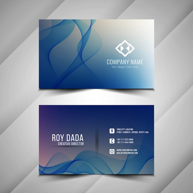 Abstract stylish business card background Free Vector
