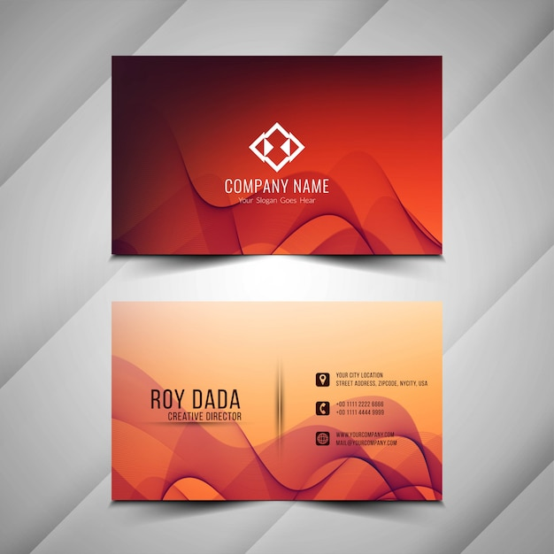 Abstract stylish business card design Free Vector