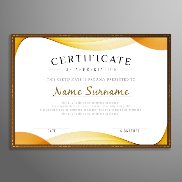Abstract stylish certificate design vector free download abstract stylish certificate design free vector yadclub Choice Image