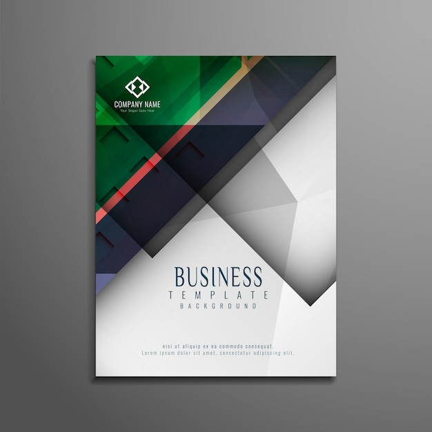 Abstract Stylish Colorful Business Brochure Design Vector  Free