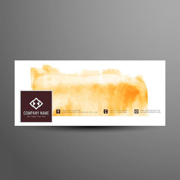 Abstract stylish facebook timeline banner template Free Vector