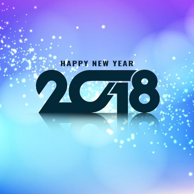 abstract stylish glowing new year 2018 background free vector