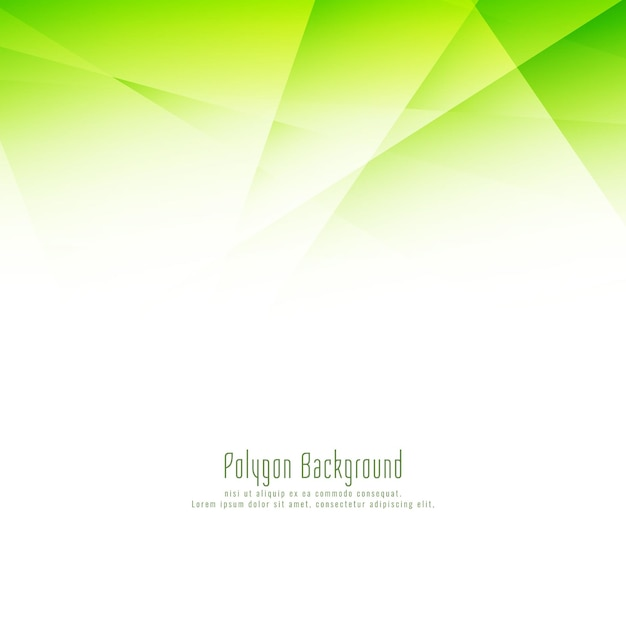 Abstract stylish green polygon design elegant background Premium Vector