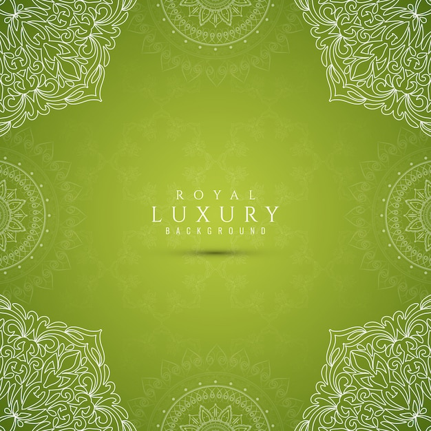 Abstract stylish luxury green background Free Vector