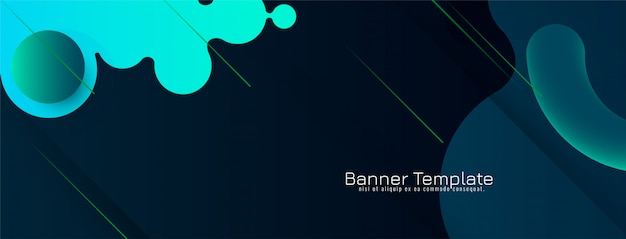 Design elegante e moderno astratto della bandiera Vettore gratuito