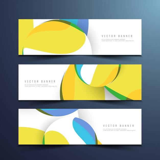 Abstract stylish modern banners design