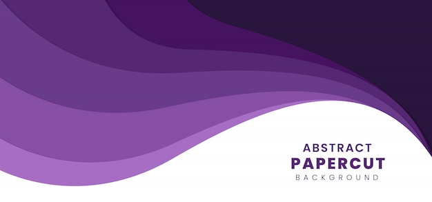 Abstract stylish paper cut background Premium Vector