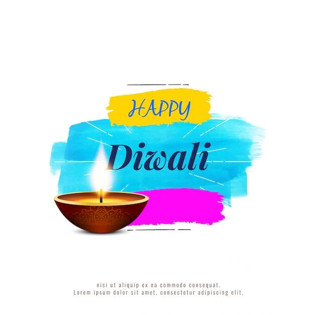 Abstract stylish religious happy diwali background Premium Vector