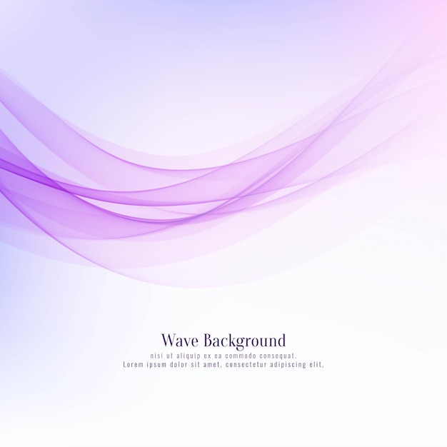 Abstract stylish wave design pink background Premium Vector
