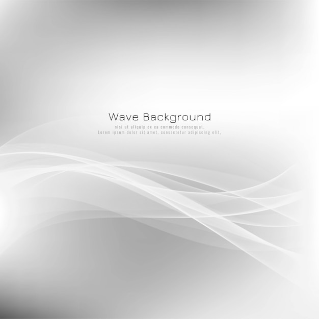 Abstract stylish wave grey background Free Vector