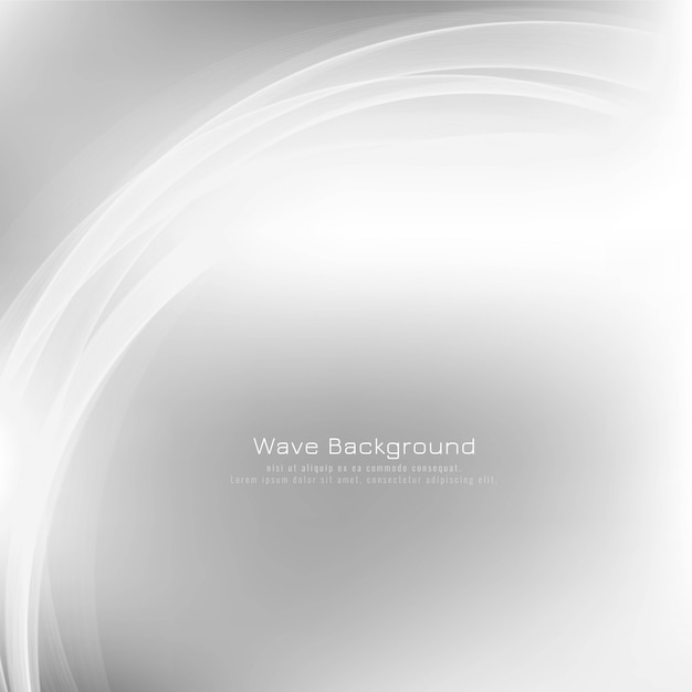 Abstract stylish wave grey Free Vector