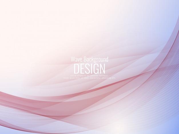 Abstract stylish wavy background design Premium Vector