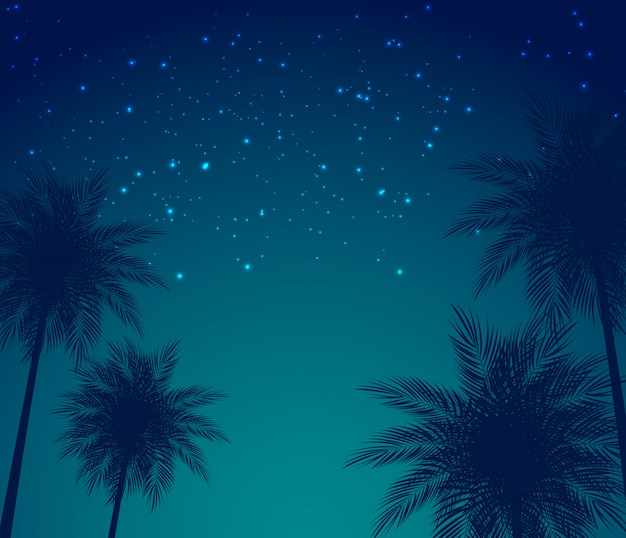 Abstract summer natural palm background vector illustration Premium Vector
