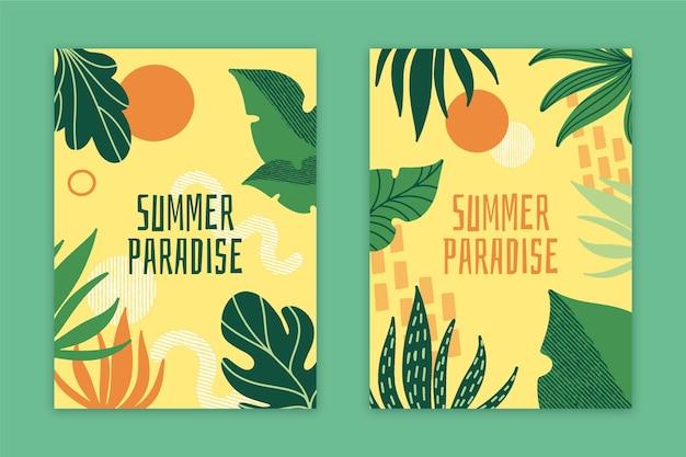 Collezione di carte astratta paradiso estivo Vettore gratuito