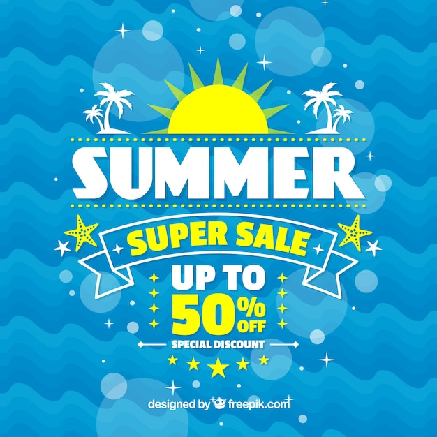 Abstract summer sale background Free Vector