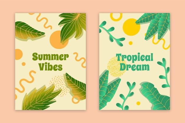 Carte di sogno tropicale di vibrazioni astratte di estate Vettore gratuito