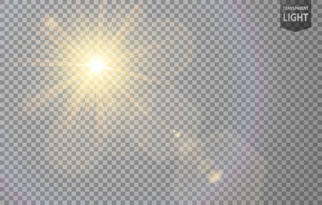 Abstract sun shines with lens flare Premium Vector