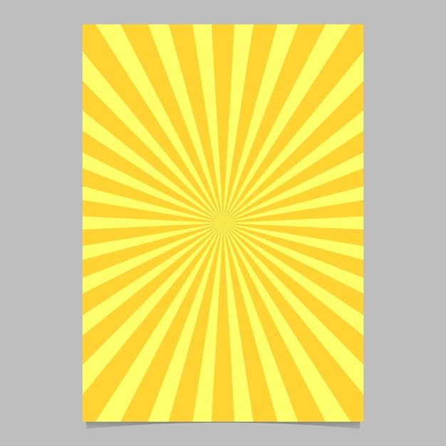 Abstract sunburstパンフレットデザインテンプレート 無料ベクター