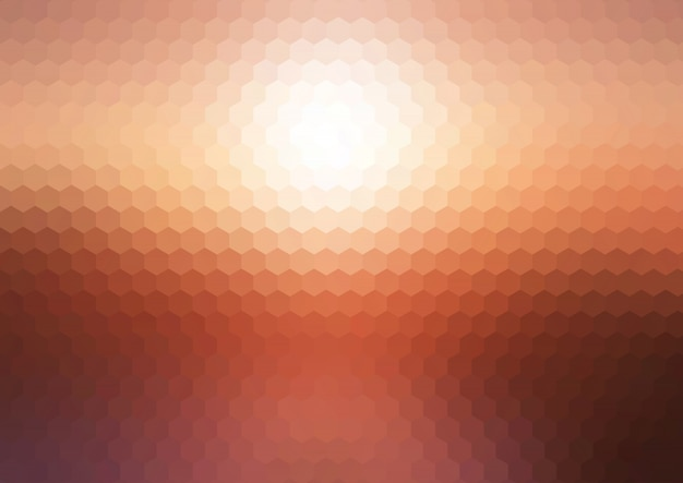 Abstract sunset hexagonal mosaic\ background
