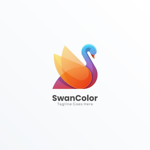 Абстрактный логотип swan bird Premium векторы
