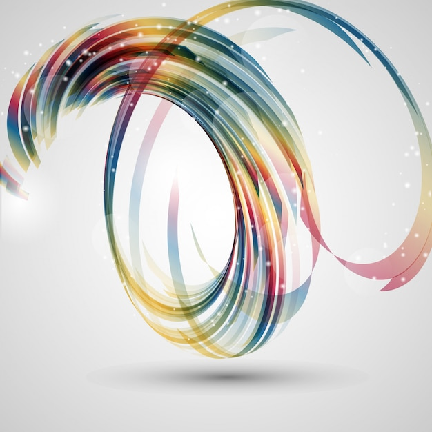 Abstract swirl background Free Vector