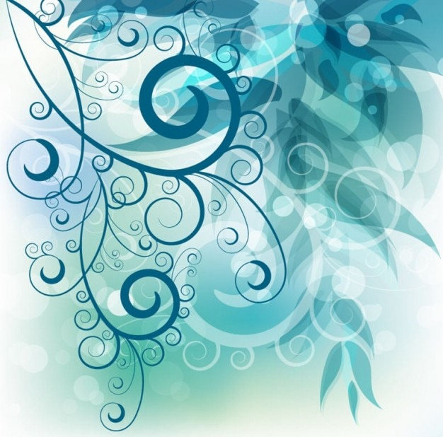 Abstract swirl floral background vector graphic Vector ...