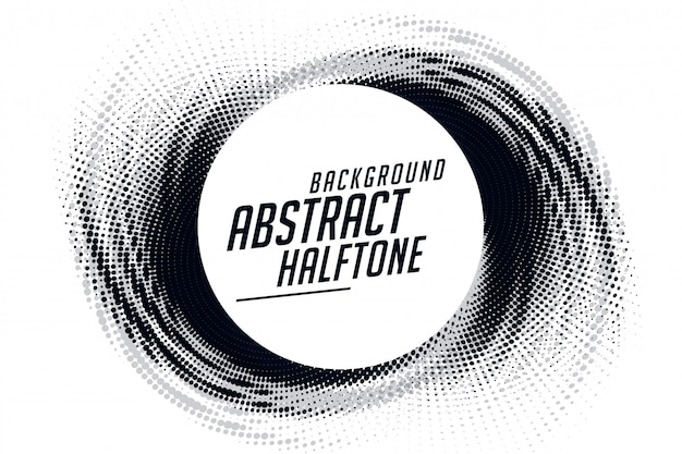 Abstract swirl grunge halftone pattern frame background Free Vector