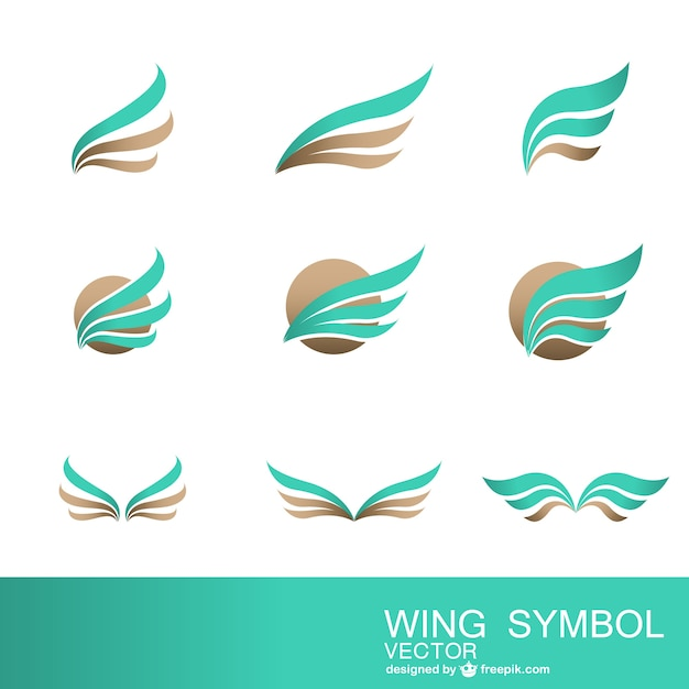 Abstract symbols collection Free Vector