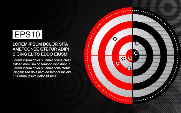 Abstract target shooting range bullet hole Premium Vector