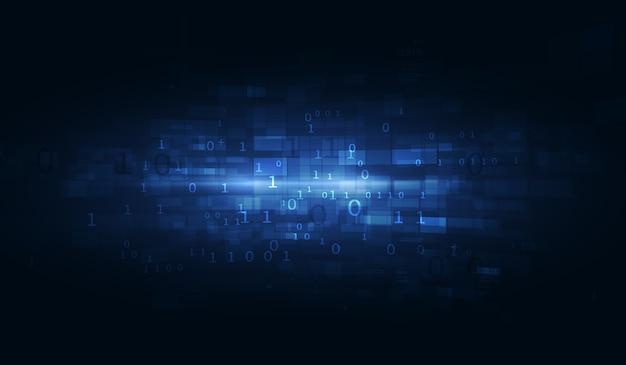 抽象的な技術的背景。浮動小数点hudの背景。マトリックス粒子は仮想現実をグリッドします。ハードウェア量子形式。 Premiumベクター