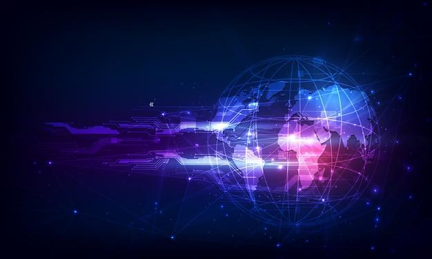 抽象的な技術球デジタル回路パターンは概念を革新します Premiumベクター
