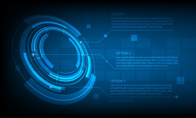 abstract technological background Premium Vector