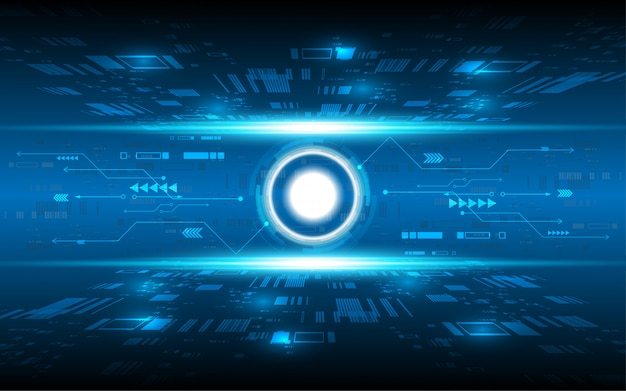 Abstract technology background hi-tech communication concept innovation background vector illustration Premium Vector