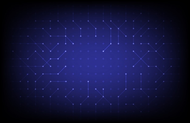 Абстрактный фон технологии синие точки соединения Premium векторы