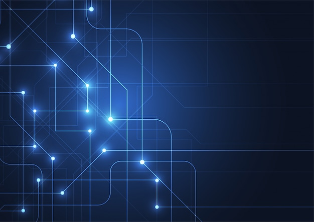 Abstract technology background with big data Premium Vector