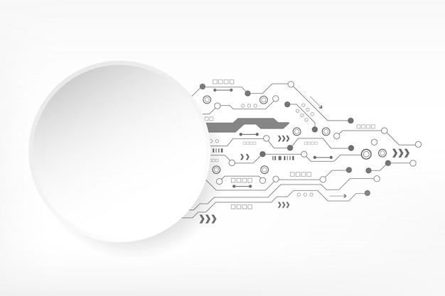 Abstract technology background with futuristic circuit board and various elements digital modern innovation. hi-tech concept Premium Vector