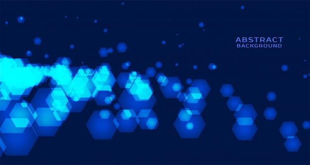 Abstract technology background with hexagonal shapes Free Vector