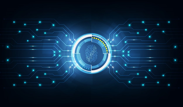 Abstract technology backgroundsecurity system  with fingerprint letter p sign Premium Vector