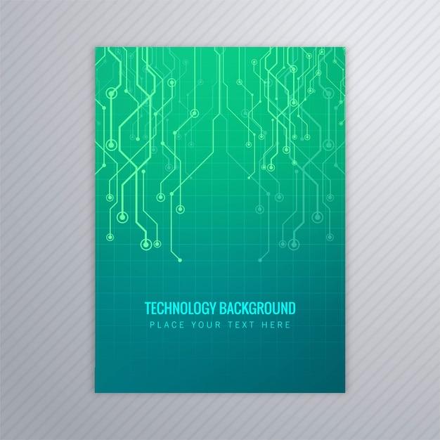 Abstract Technology Brochure Template Vector Design Vector Free