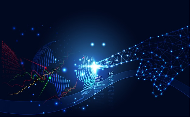 Abstract technology business world stock Premium Vector