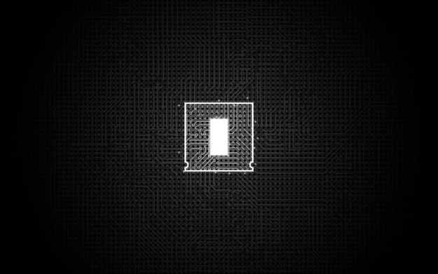 Abstract technology chip processor background Premium Vector