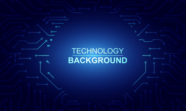 Abstract technology circuit background Premium Vector