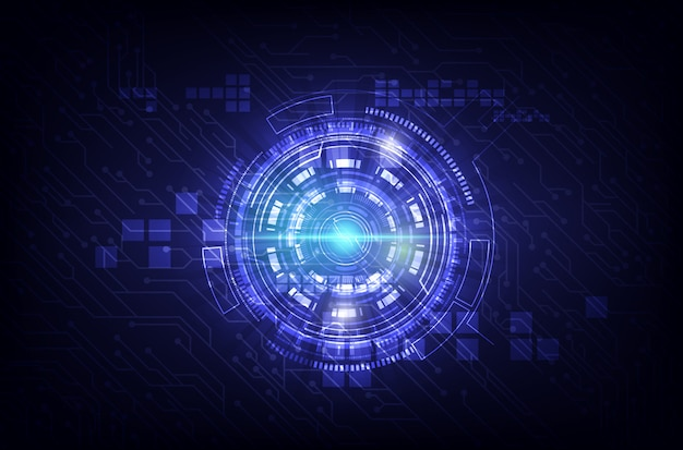 Abstract technology communication background Vector ...