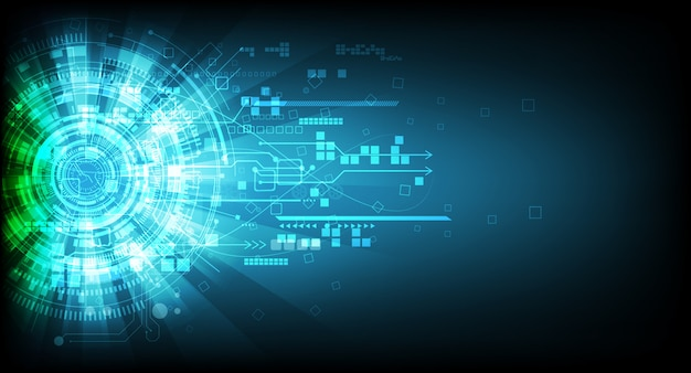 Abstract technology communication background Premium Vector