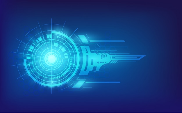 Abstract technology communication background | Premium Vector