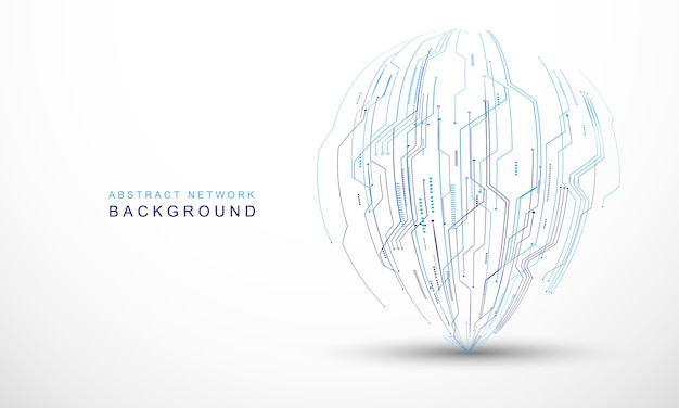 Abstract technology communication concept vector background Premium Vector