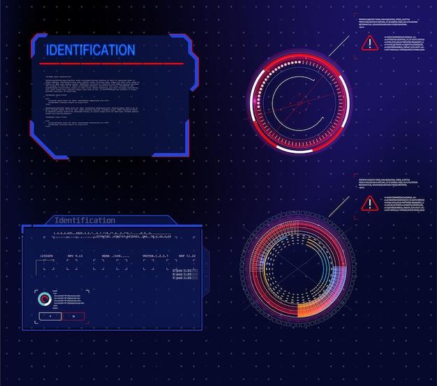 Абстрактная технологическая коммуникационная концепция инновационного дизайна. векторная абстрактная графика Premium векторы