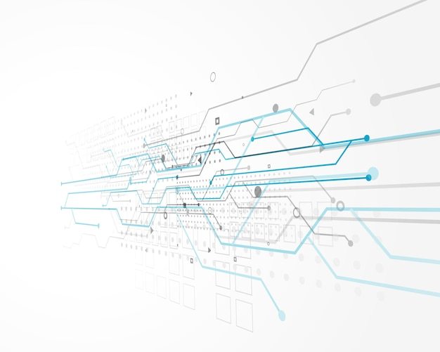 Abstract technology concept design with wire mesh Free Vector
