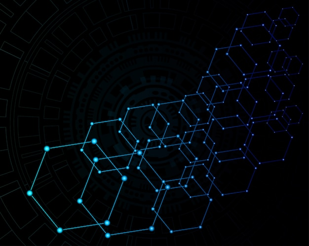 Abstract technology digital background Premium Vector