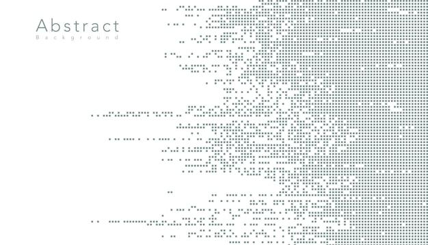 抽象的なテクノロジーデジタルデータ正方形ピクセル 無料ベクター